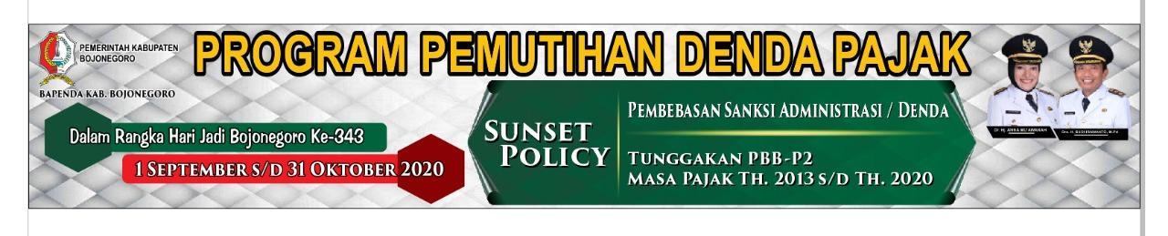 SUNSET POLICY TAHUN 2020<BR>PAJAK BUMI DAN BANGUNAN PERDESAAN DAN PERKOTAAN